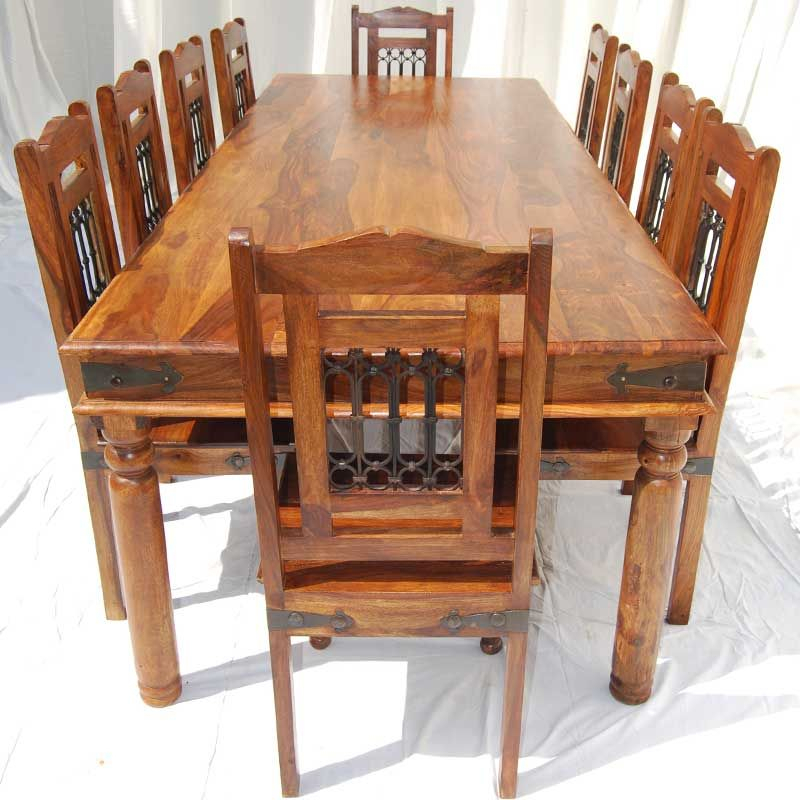 San Francisco Rustic Furniture Large Dining Table With 10 Intended For Most Popular Large Rustic Look Dining Tables (View 7 of 20)