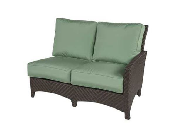 Sectional Wicker Box & Welt Deep Seat Cushion Right Arm Love Seat, Palmer  Woven Collection, 45 Lbs (#13 of 20)