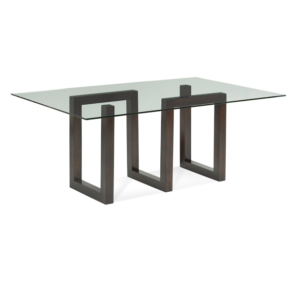 Serpent – Rectangular Glass Top Dining Table With 2020 Rectangular Glasstop Dining Tables (#16 of 20)