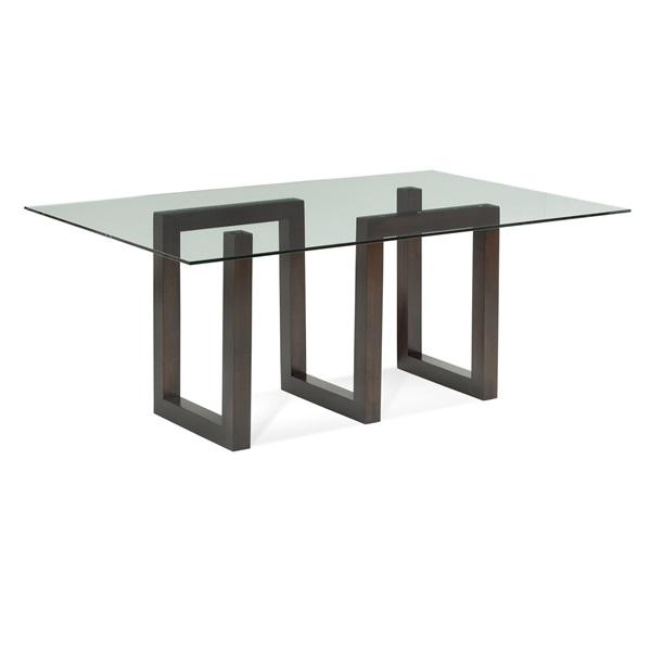 Serpent – Rectangular Glass Top Dining Table With 2020 Rectangular Glasstop Dining Tables (View 12 of 20)