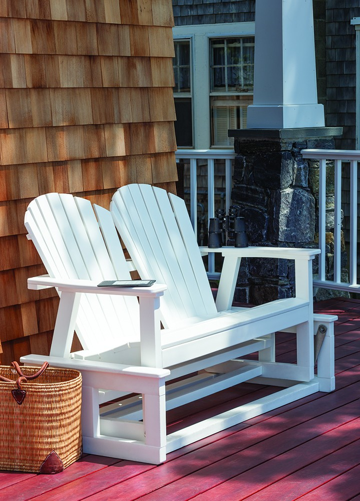 Shellback Glider – Wood – The Great Escape Regarding Iron Grove Slatted Glider Benches (View 17 of 20)
