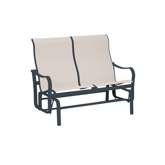Shoreline Sling Double Glider Bench For Padded Sling Double Glider Benches (View 20 of 20)