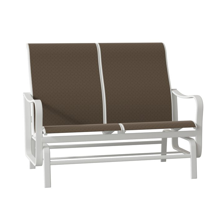 Shoreline Sling Double Glider Bench Intended For Padded Sling Double Glider Benches (View 12 of 20)