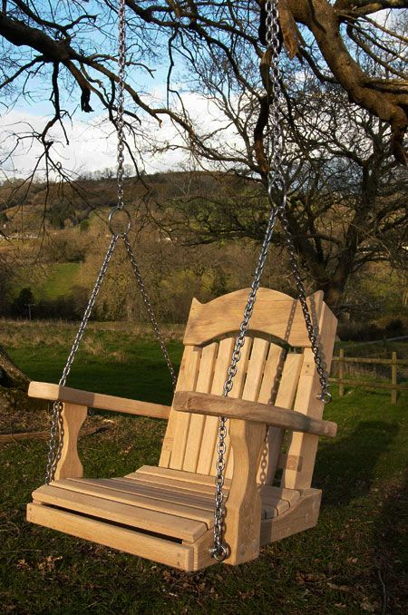 Single Garden Swing Seats For Treeslooking At The How To In Swing Seats With Chains (View 6 of 20)