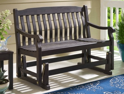 Six Ideas For Your Outdoor Patio Gliders – Outdoor Room Ideas Intended For Speckled Glider Benches (View 8 of 20)