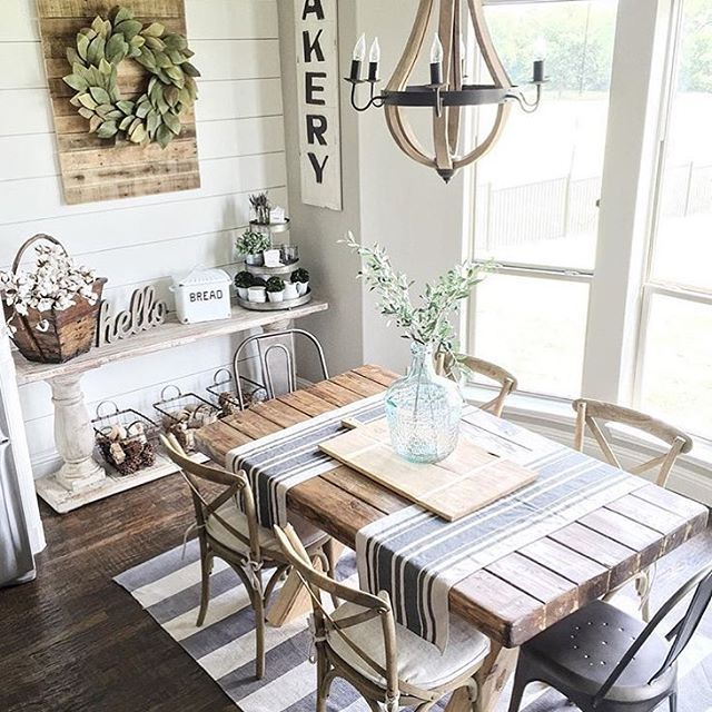 Small Rustic Look Dining Tables In Favorite Farmhouse Dining Table Ideas For Cozy, Rustic Look (View 15 of 20)