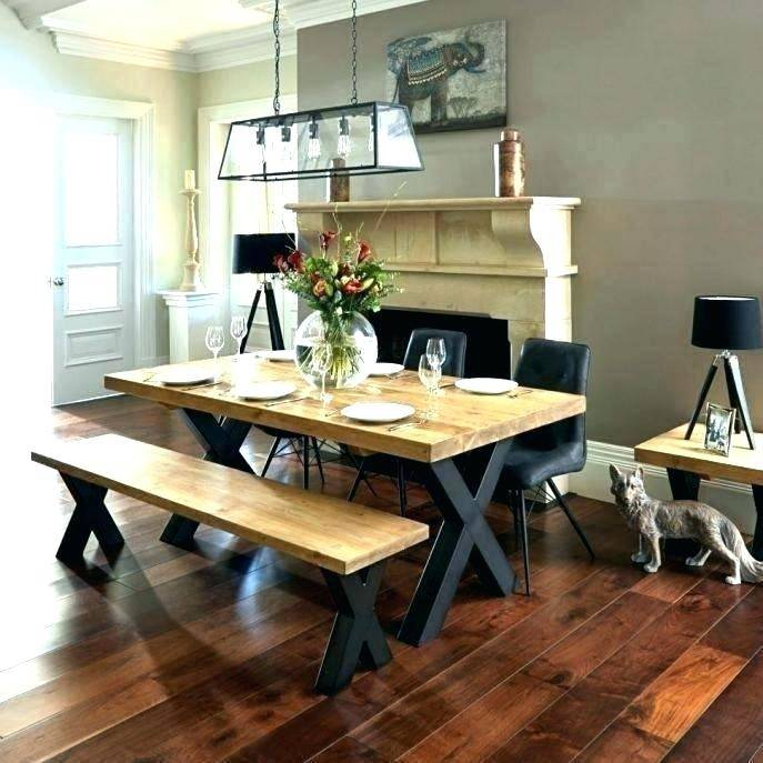 Small Rustic Look Dining Tables In Most Current Dining Table Sets Bench Country Style Medium Set Tables (View 17 of 20)