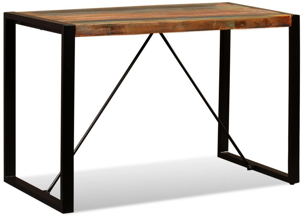 Small Rustic Look Dining Tables Regarding Most Popular H4home Industrial Style Small Dining Table Solid Reclaimed (View 10 of 20)