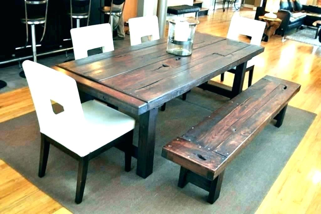 Small Rustic Look Dining Tables Within Trendy Exciting Rustic Dining Table And Chairs Mismatched Ebay (View 11 of 20)