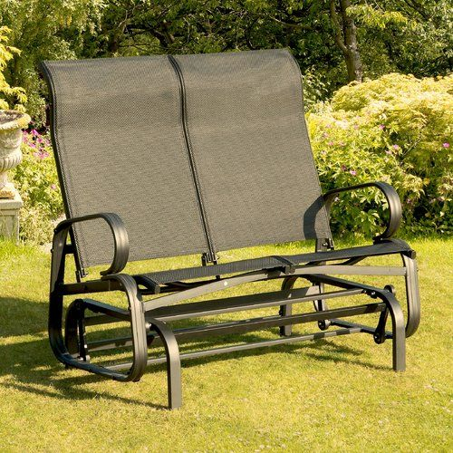Sofa Isanti Garten Living Farbe: Schwarz | Outdoor Glider With Twin Seat Glider Benches (View 2 of 20)
