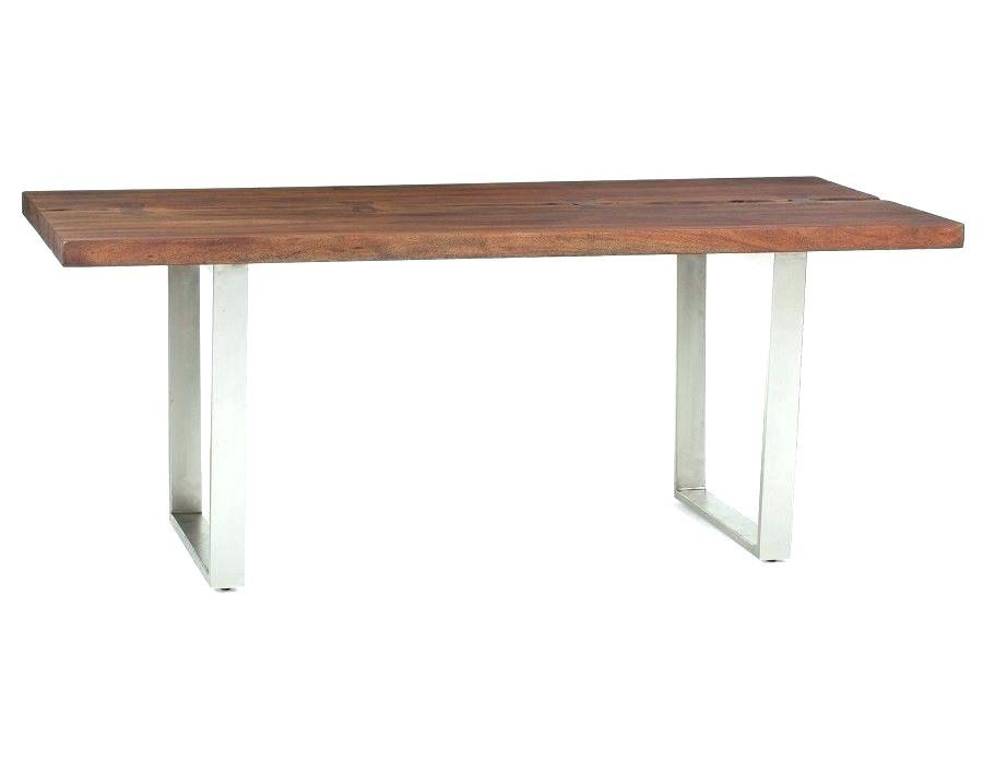 Solid Acacia Wood Dining Table Solid Acacia Wood Dining Throughout Most Popular Acacia Wood Top Dining Tables With Iron Legs On Raw Metal (#20 of 20)
