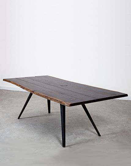 Solid European Oak Dining Table With A Seared Stain Finish With Regard To Most Up To Date Dining Tables In Smoked Seared Oak (#19 of 20)