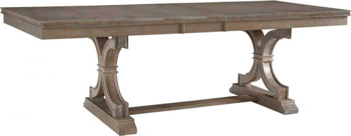 Solid Parawood Wood Sonoma Extension Dining Table In Taupe Gray Finish Inside Popular Extension Dining Tables (#17 of 20)