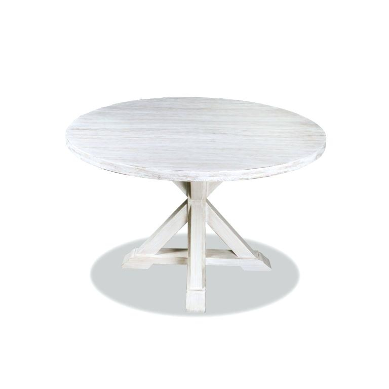 Solid Wood Circular Dining Tables White Intended For Recent White Solid Wood Dining Table Round Treasure Reclaimed In (View 16 of 20)