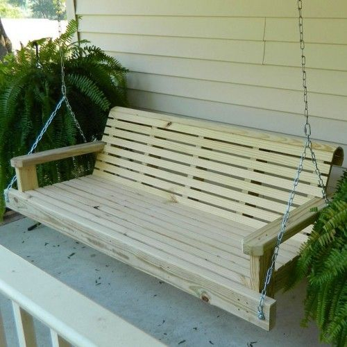 Southern Swings Classic Pressure Treated Porch Swing | Patio Pertaining To Classic Porch Swings (View 18 of 20)