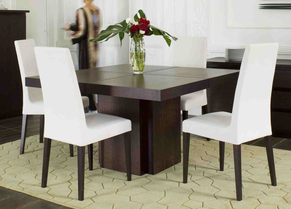 Popular Photo of Contemporary 4 Seating Square Dining Tables