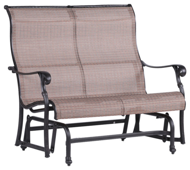 Stinson Sling Double Glider, Outdoor Metal Glider With Regard To Aluminum Glider Benches With Cushion (View 12 of 20)