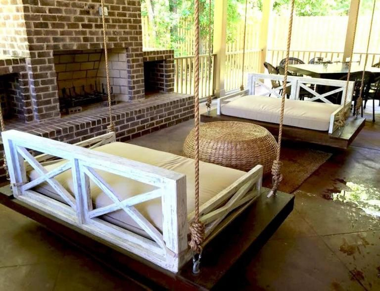 Stunning Porches Patio Ideas #patio #patiofurniture Intended For Patio Hanging Porch Swings (#16 of 20)