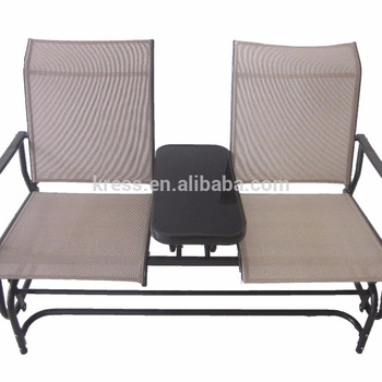 Sundale Outdoor 2 Person Glider Bench Chair Patio Porch Swing With Rocker –  Buy 2 Person Glider Chair,ourdoor Glider Bench Chair,glider Porch Swing Pertaining To 2 Person Gray Steel Outdoor Swings (#19 of 20)