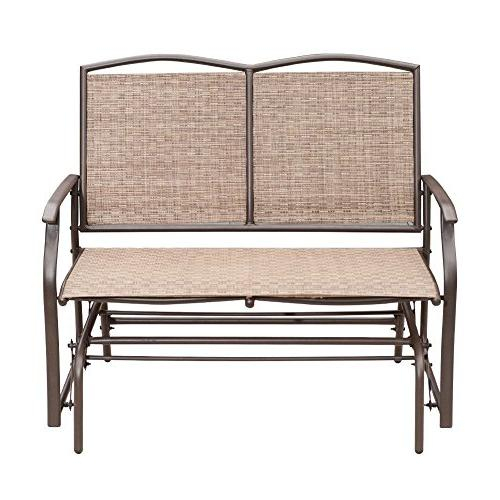 Sunlife Outdoor Swing Glider 2 Person, Patio Furniture With Outdoor Steel Patio Swing Glider Benches (View 17 of 20)