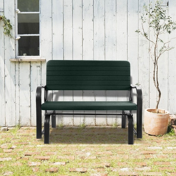 Swing Chair Outdoor Patio Swing Porch Rocker Glider Bench Throughout Outdoor Steel Patio Swing Glider Benches (View 5 of 20)