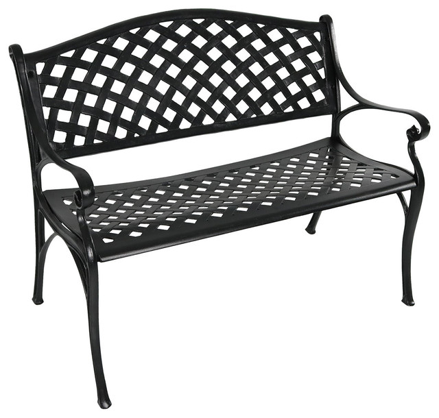Swing Chair Vidaxl Vintage Classic 2 Person Aluminum Garden With Regard To 2 Person Antique Black Iron Outdoor Swings (#17 of 20)