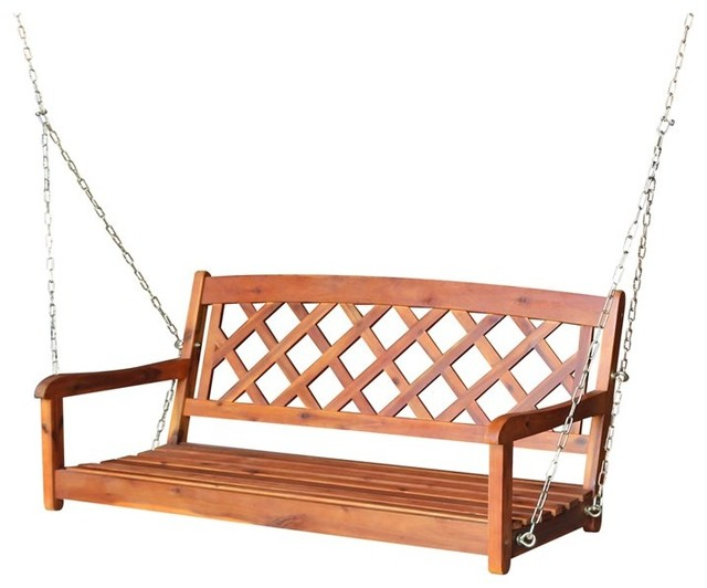 Swing With Chain – X Back For Porch Swings With Chain (#17 of 20)