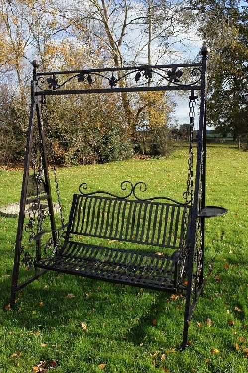 """Swinging Sixties"""" From Grannie Kates Vintage Collection Intended For 1 Person Antique Black Iron Outdoor Swings (View 3 of 20)"""