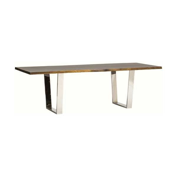 Tables With Dining Tables In Smoked/seared Oak (#18 of 20)