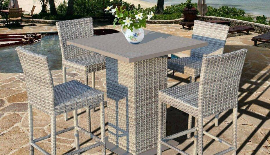 Popular Photo of Patio Square Bar Dining Tables