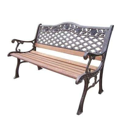 Tea Rose Bench Regarding 1 Person Antique Black Iron Outdoor Swings (#17 of 20)