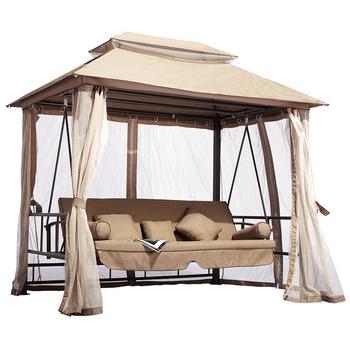 Terrasse 3 Sitze Wasserdicht Garten Freizeit Pavillon Swing Bett – Buy 3 Sitze Wasserdicht Garten Schaukel Bett,garten Freizeit Pavillon Swing With 3 Seat Pergola Swings (View 10 of 20)
