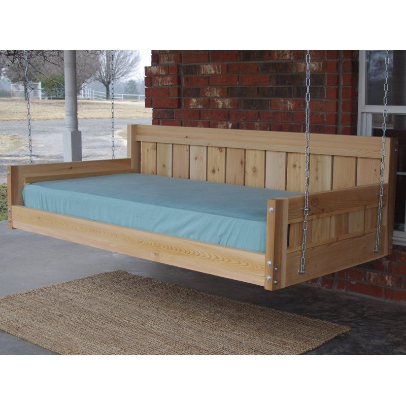 Thacker Cedar Country Style Hanging Daybed Swing – Tuin Pertaining To Country Style Hanging Daybed Swings (View 2 of 20)