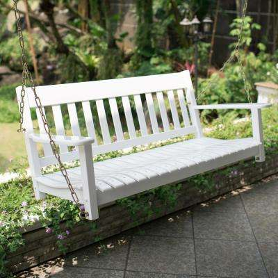 Thames White Wood Porch Swing With Regard To Classic Porch Swings (View 13 of 20)