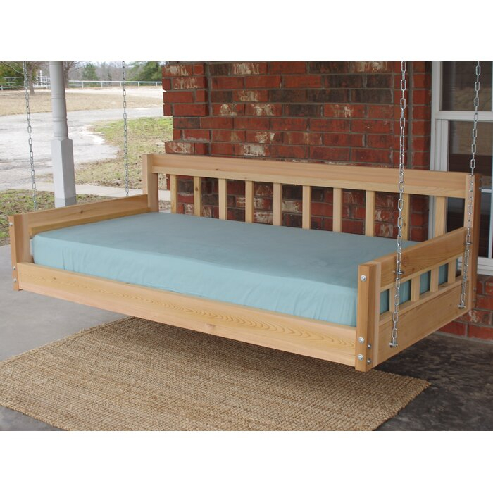 Tharp American Style Hanging Daybed Porch Swing Intended For Country Style Hanging Daybed Swings (View 14 of 20)