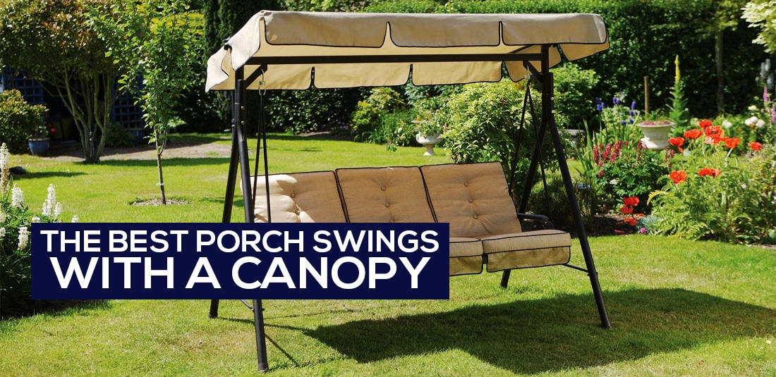 The 5 Best Porch Swings With Canopy [canopy Garden Swing For 3 Person Red With Brown Powder Coated Frame Steel Outdoor Swings (View 10 of 20)