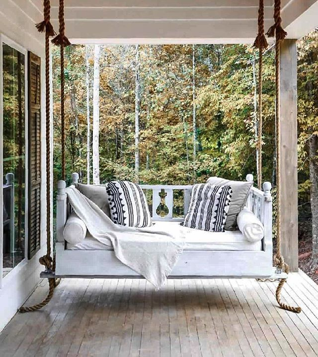 The Best Front Porch Swing Styled Beautifully With Gorgeous With Patio Hanging Porch Swings (#17 of 20)