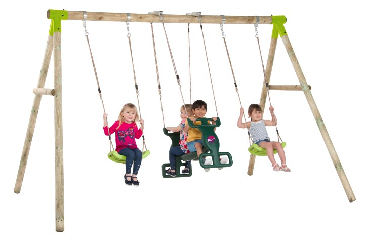 The Vervet Wooden Swing Set Inside Dual Rider Glider Swings With Soft Touch Rope (#19 of 20)