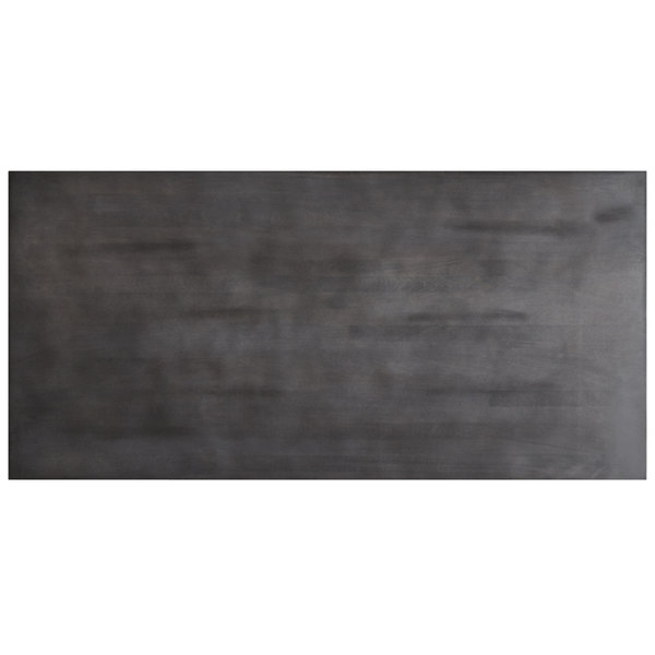 """Thick White Marble Slab Dining Tables With Weathered Grey Finish With 2019 Lancaster Table & Seating 30"""" X 60"""" Solid Wood Live Edge Table Top With  Antique Slate Gray Finish (#17 of 20)"""
