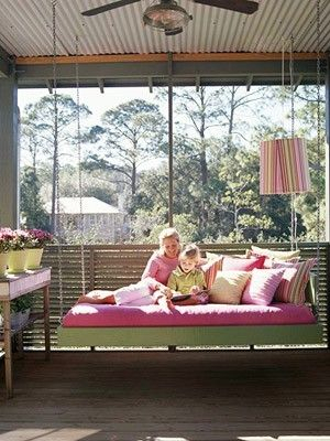This Ain't Yer Grandma's Porch Swing! Diy Swing Beds For Day Bed Porch Swings (#20 of 20)