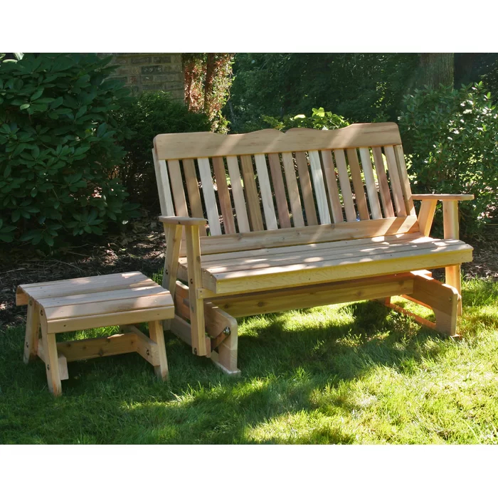 Tillison Cedar 2 Piece Sofa Seating Group | Outdoor Glider Pertaining To 2 Person Natural Cedar Wood Outdoor Gliders (#19 of 20)