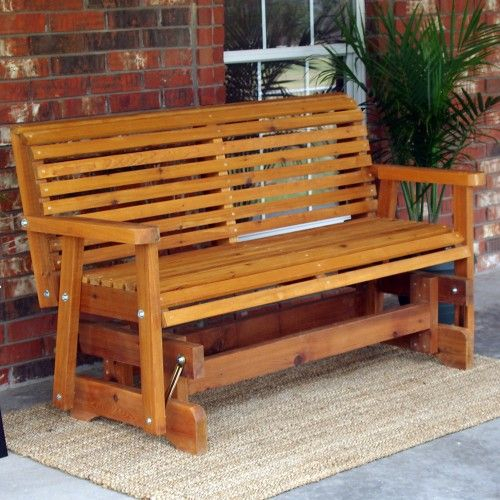 Tmp Outdoor Furniture Classic Roll Back Red Cedar Outdoor For Cedar Colonial Style Glider Benches (View 19 of 20)