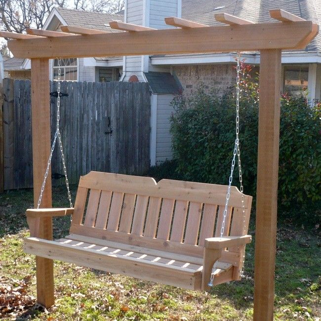Inspiration about Tmp Outdoor Furniture Victorian Red Cedar Post Style Arbor Within A4 Ft Cedar Pergola Swings (#4 of 20)