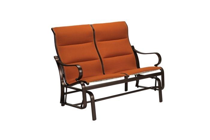 Torino Padded Sling Double Glider High Back – Hauser's Patio Regarding Padded Sling Double Glider Benches (View 5 of 20)
