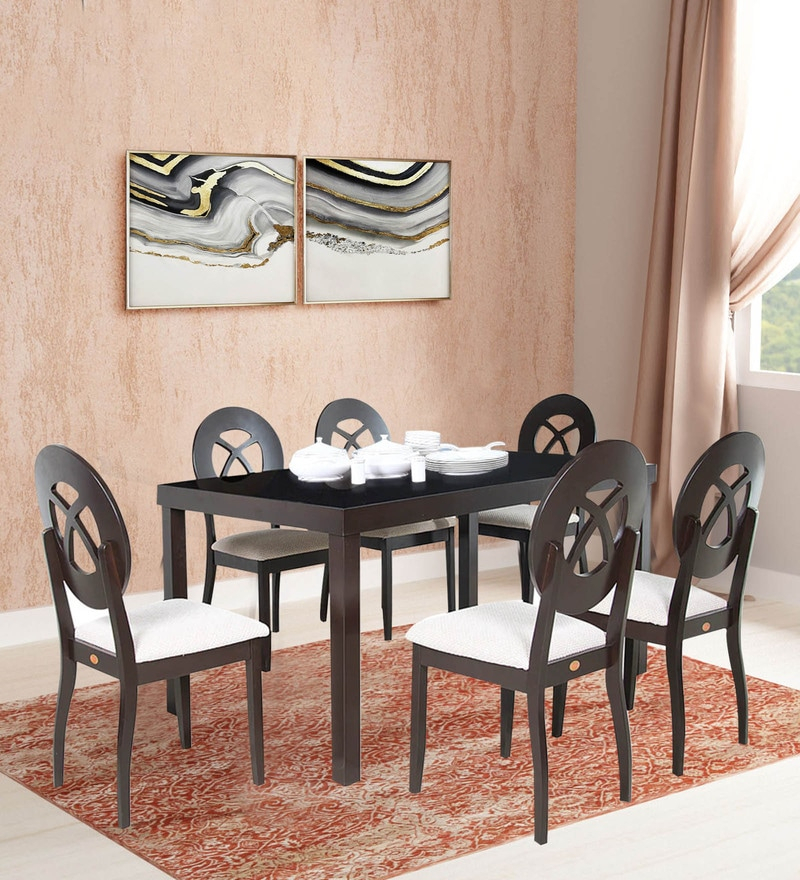 Transitional 6 Seating Casual Dining Tables For Most Recently Released Buy Brisca 6 Seater Dining Set In Brown Colourparin (View 16 of 20)