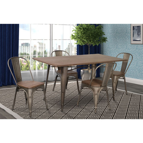 Inspiration about Transitional 6 Seating Casual Dining Tables With Regard To Latest Marlow Traditional 4 Seating Rectangular Casual Dining Table – Dark Oak (#18 of 20)
