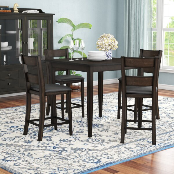 Transitional Antique Walnut Square Casual Dining Tables Intended For Most Recent Casual Dining Sets (View 20 of 20)