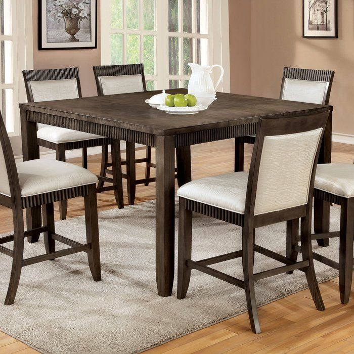 Transitional Antique Walnut Square Casual Dining Tables With Most Up To Date Gayet Extendable Dining Table In (View 5 of 20)