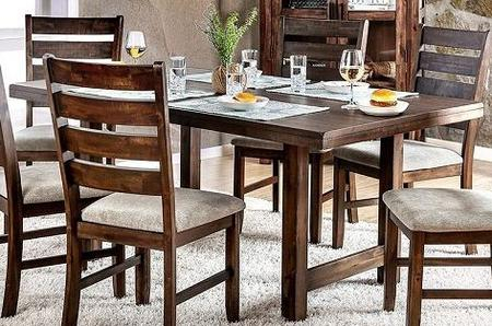 Transitional Rectangular Dining Tables In Most Up To Date Furniture Of America Cm3463T (View 3 of 20)