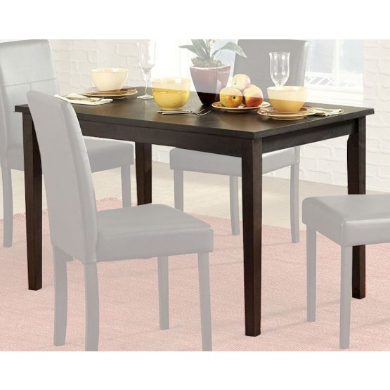 Transitional Rectangular Dining Tables Inside Most Popular Dover Transitional Rectangular Wood Dining Table (#15 of 20)